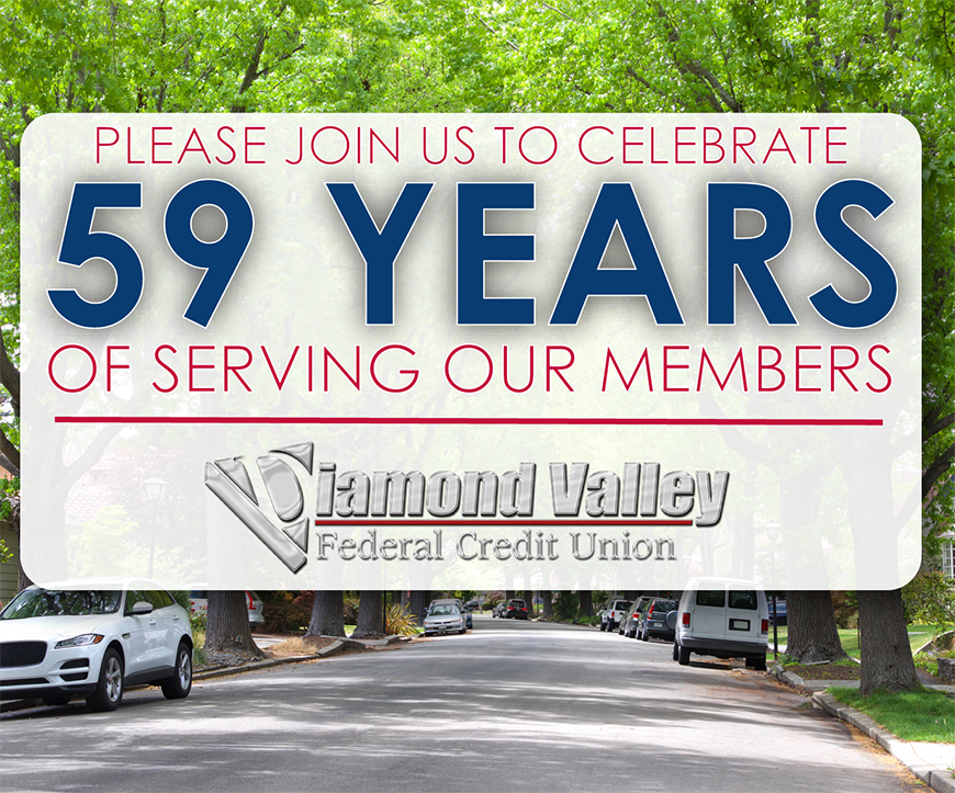 Join us as we celebrate 59 years of serving our members!