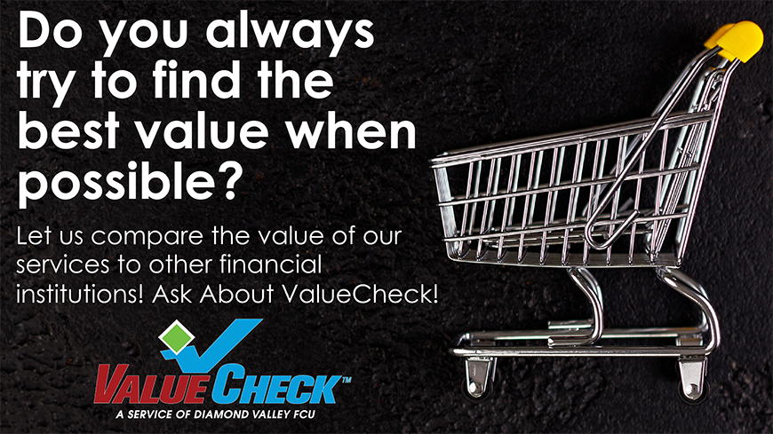 Ask About ValueCheck From Diamond Valley