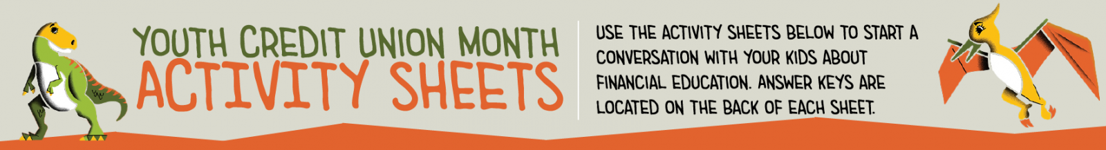 Youth Credit Union Month - Activity Sheets