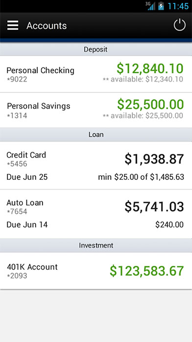 DVFCU App for Android Phone