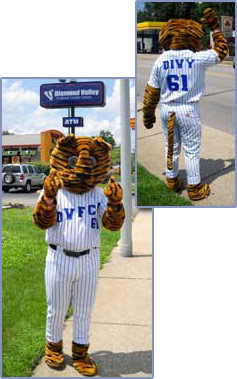 Divy The Tiger Mascot