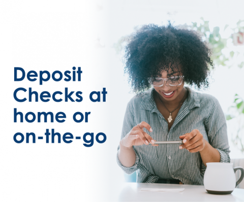 Deposit Checks at home or on the go with the DVFCU App.